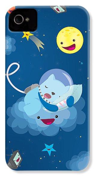 Sleepy In Space IPhone 4s Case by Seedys