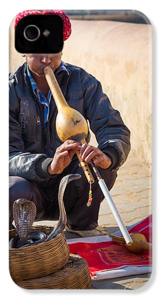 Snake Charmer IPhone 4s Case by Inge Johnsson