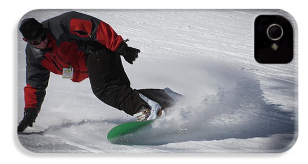 IPhone 4s Case featuring the photograph Snowboarder On Mccauley by David Patterson