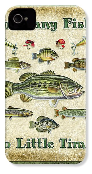 So Many Fish Sign IPhone 4s Case by JQ Licensing