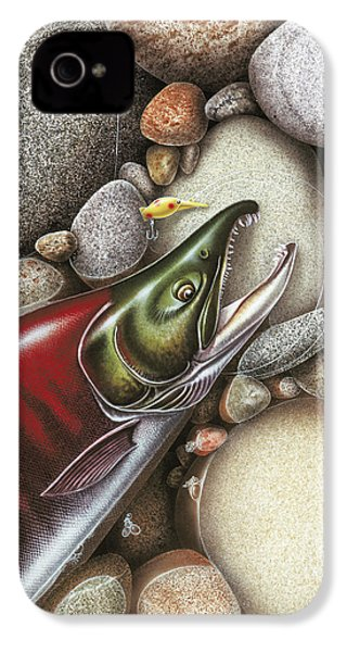 Sockeye Salmon IPhone 4s Case by JQ Licensing