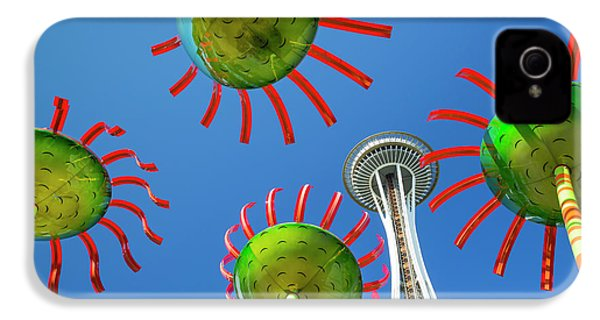 IPhone 4s Case featuring the photograph Sonic Bloom In Seattle Center by Adam Romanowicz