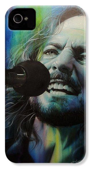 Eddie Vedder - ' Spectrum Of Vedder ' IPhone 4s Case by Christian Chapman Art