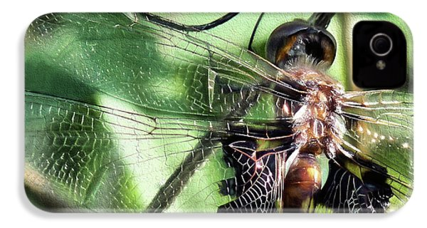 IPhone 4s Case featuring the digital art Stained Glass Dragonfly by JC Findley