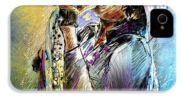 Steven Tyler 01  Aerosmith IPhone 4s Case by Miki De Goodaboom