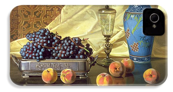 Still Life With Peaches IPhone 4s Case by Edward Chalmers Leavitt