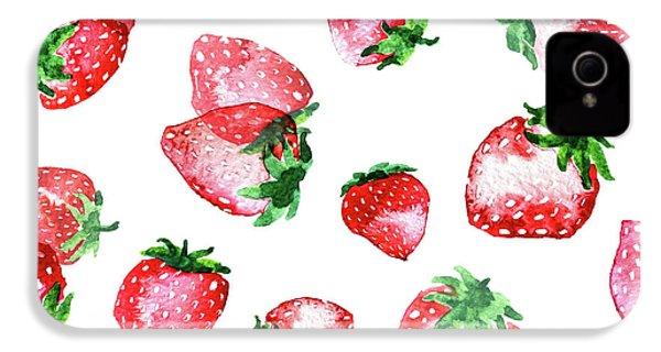 Strawberries IPhone 4s Case by Varpu Kronholm