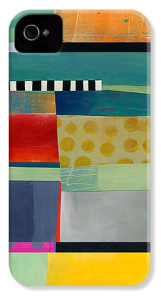 Stripe Assemblage 2 IPhone 4s Case by Jane Davies