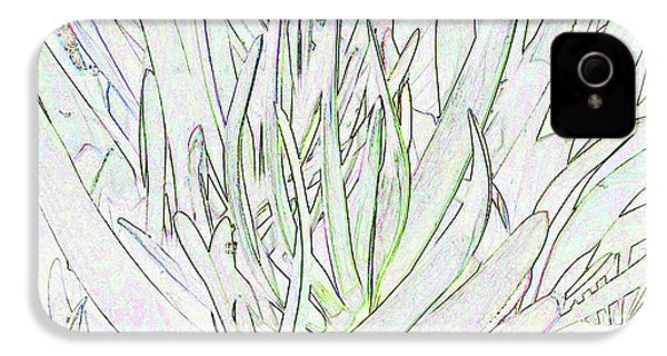 Succulent Leaves In High Key IPhone 4s Case by Nareeta Martin
