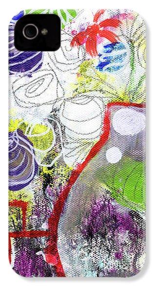 Sunday Market Flowers 3- Art By Linda Woods IPhone 4s Case by Linda Woods