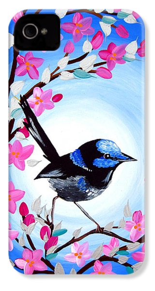 Superb Fairy Wren IPhone 4s Case by Cathy Jacobs