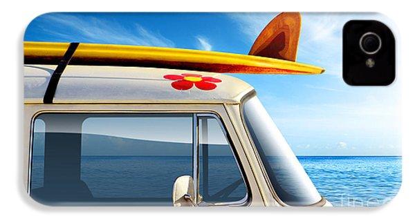 Surf Van IPhone 4s Case by Carlos Caetano