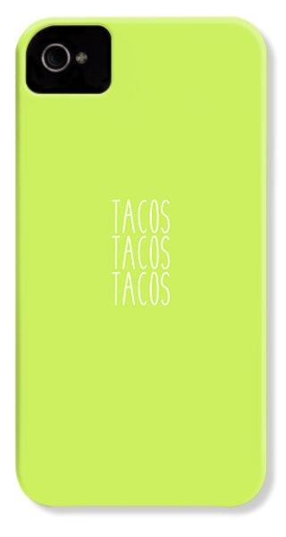 Tacos IPhone 4s Case by Cortney Herron