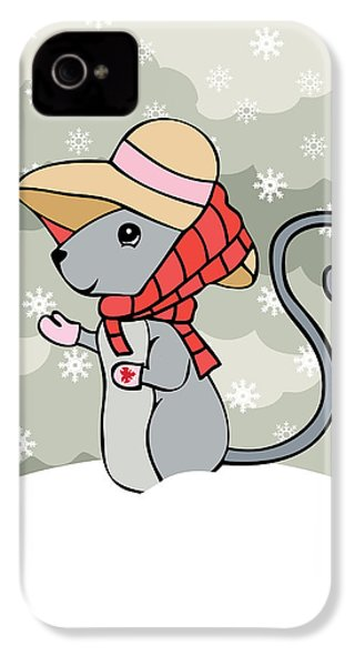 Tatty Winter IPhone 4s Case by Christy Beckwith
