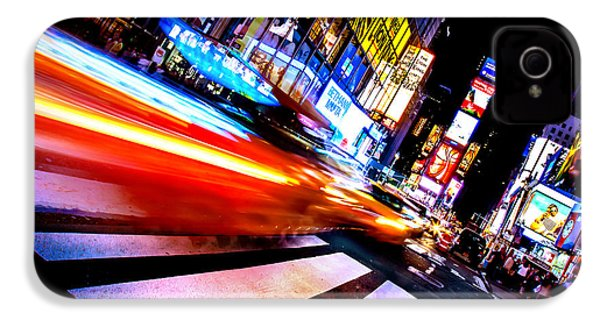 Taxis In Times Square IPhone 4s Case by Az Jackson