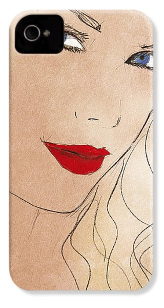 Taylor Red Lips IPhone 4s Case by Pablo Franchi
