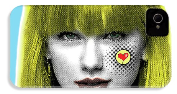 Taylor Swift, Pop Art, Portrait, Contemporary Art On Canvas, Famous Celebrities IPhone 4s Case by Dr Eight Love