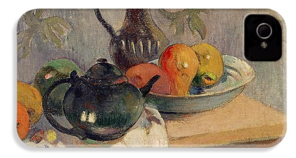 Teiera Brocca E Frutta IPhone 4s Case by Paul Gauguin