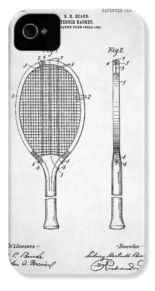 Tennis Racket Patent 1907 IPhone 4s Case by Taylan Apukovska