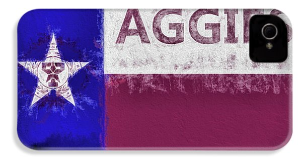 Texas Aggies State Flag IPhone 4s Case by JC Findley