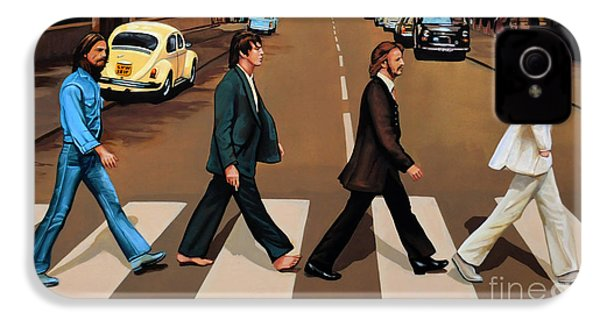 The Beatles Abbey Road IPhone 4s Case by Paul Meijering