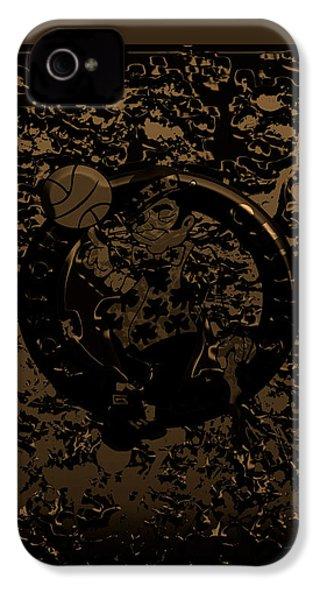 The Boston Celtics 1f IPhone 4s Case by Brian Reaves