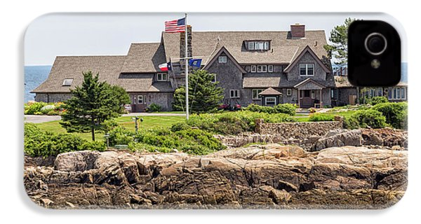 The Bush Compound Kennebunkport Maine IPhone 4s Case by Brian MacLean