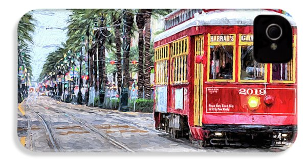 IPhone 4s Case featuring the photograph The Canal Street Streetcar by JC Findley