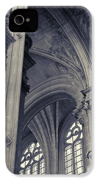 The Columns Of Saint-eustache, Paris, France. IPhone 4s Case by Richard Goodrich