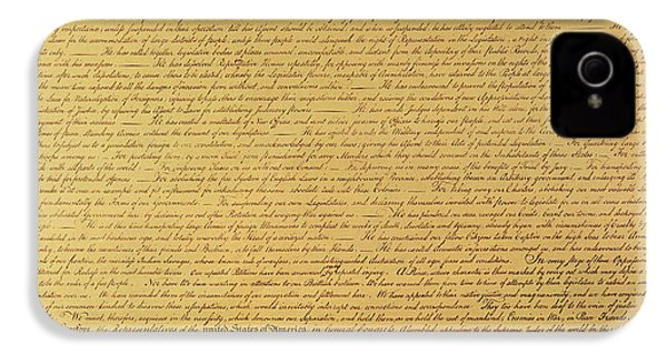 The Declaration Of Independence IPhone 4s Case