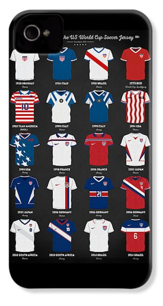 The Evolution Of The Us World Cup Soccer Jersey IPhone 4s Case