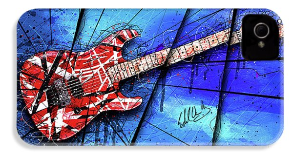 The Frankenstrat On Blue I IPhone 4s Case