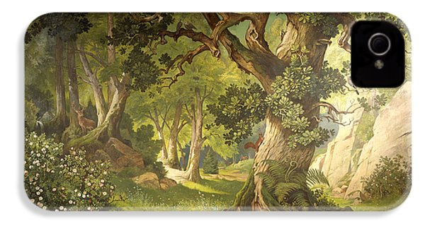 The Garden Of The Magician Klingsor, From The Parzival Cycle, Great Music Room IPhone 4s Case by Christian Jank