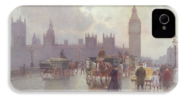 The Houses Of Parliament From Westminster Bridge IPhone 4s Case by Alberto Pisa