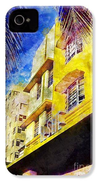 The Leslie Hotel South Beach IPhone 4s Case by Jon Neidert