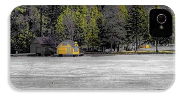 IPhone 4s Case featuring the photograph The Lighthouse On Frozen Pond by David Patterson