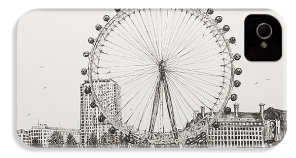 The London Eye IPhone 4s Case by Vincent Alexander Booth
