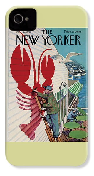 The New Yorker Cover - March 22nd, 1958 IPhone 4s Case