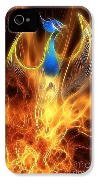 The Phoenix Rises From The Ashes IPhone 4s Case by John Edwards