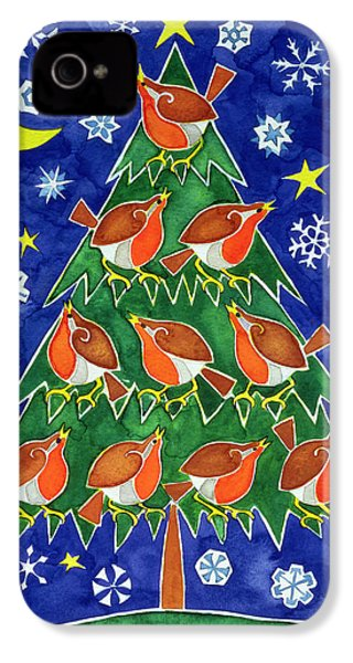 The Robins Chorus IPhone 4s Case by Cathy Baxter