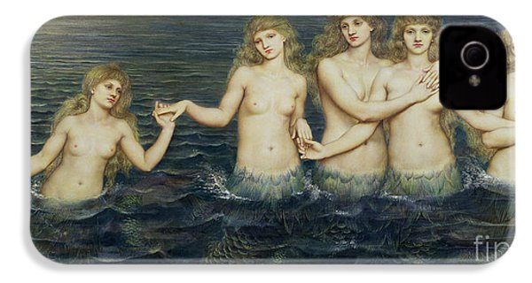 The Sea Maidens IPhone 4s Case by Evelyn De Morgan
