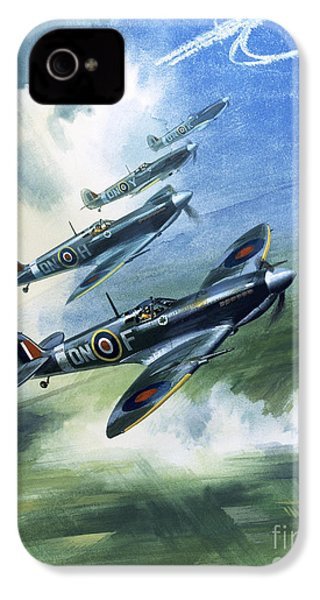 The Supermarine Spitfire Mark Ix IPhone 4s Case by Wilfred Hardy