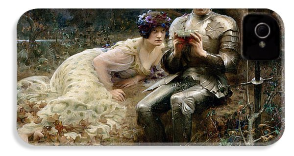 The Temptation Of Sir Percival IPhone 4s Case by Arthur Hacker