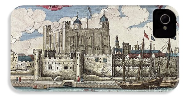 The Tower Of London Seen From The River Thames IPhone 4s Case by English School