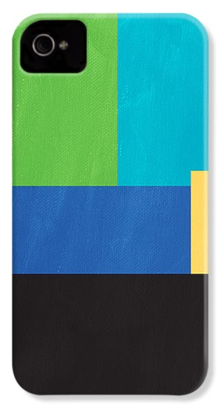 The View From Here- Modern Abstract IPhone 4s Case by Linda Woods