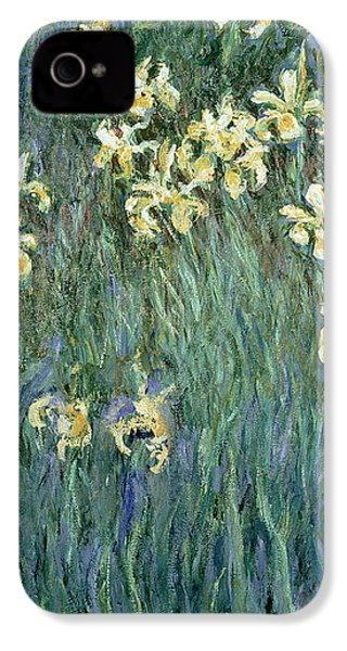 The Yellow Irises IPhone 4s Case by Claude Monet