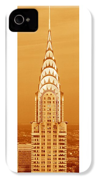 Chrysler Building At Sunset IPhone 4s Case by Panoramic Images