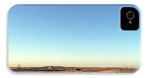 Thornham Marsh Lit By The Setting Sun IPhone 4s Case by John Edwards
