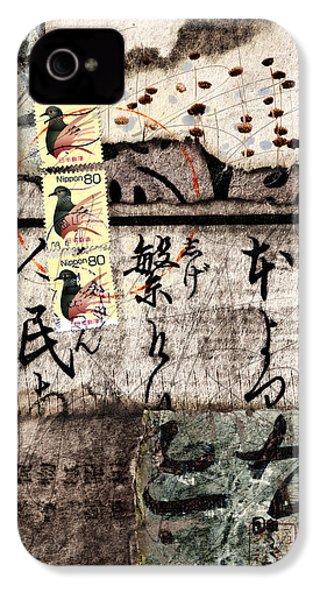 Three Bird Night Collage IPhone 4s Case by Carol Leigh