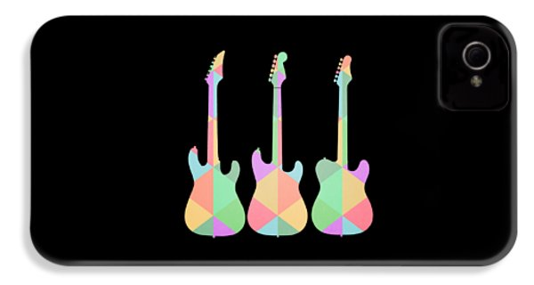 Three Guitars Triangles Tee IPhone 4s Case